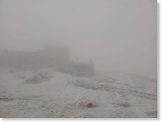 Snow in Carpathians, October 2020