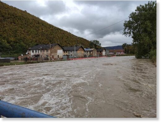 Floods in Slovakia, October 2020.