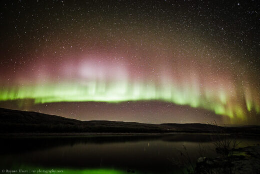 Auroras are still glowing red @ Utsjoki, Finnish Lapland