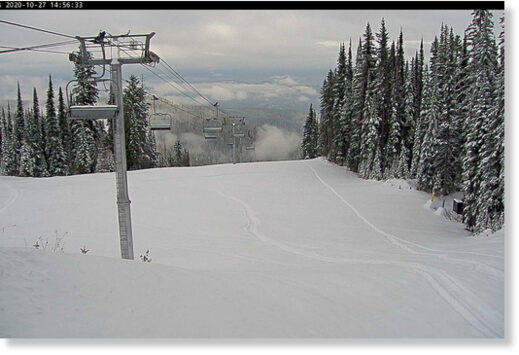 SilverStar has accumulated 82.5 cm of snow as of Wednesday, Oct. 27, 2020.