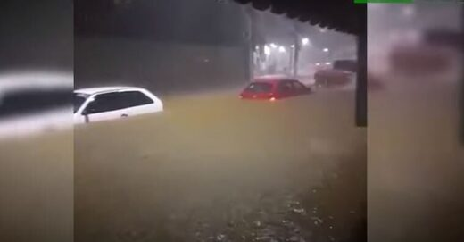 Flooding in Sanhara, Brazil