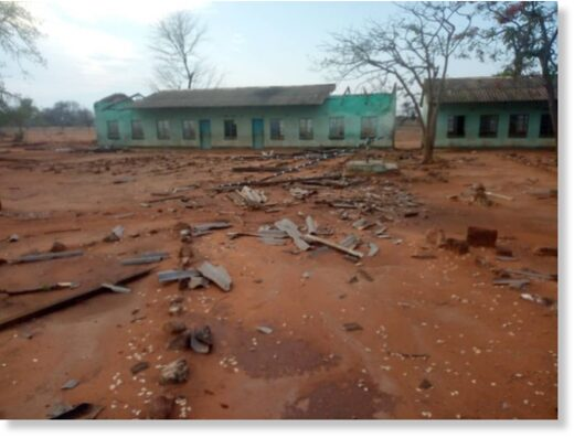 Flood and storm damage in Chipinge, Zimbabwe, November 2020.