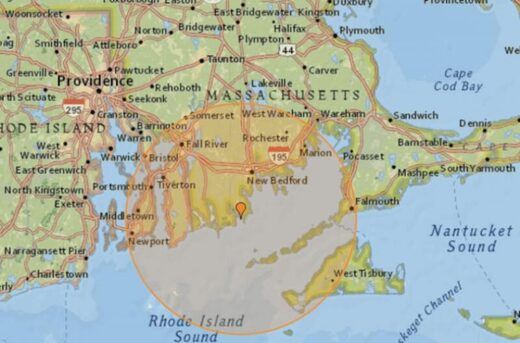 New England earthquake map