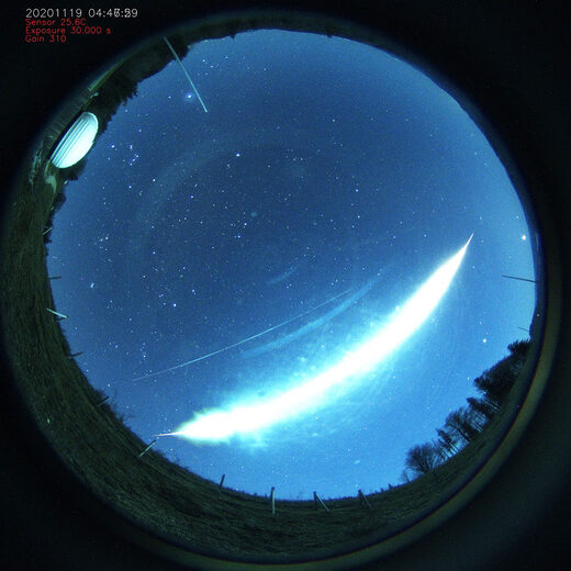 Meteor fireball over Austria