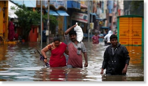 Heavy rains have already flooded parts of Chennai