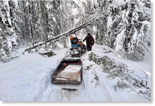 Residents living in a remote area of the West Chilcotin spent six days digging out after receiving 90 cm of snow in 18 hours on Friday, Nov. 27.