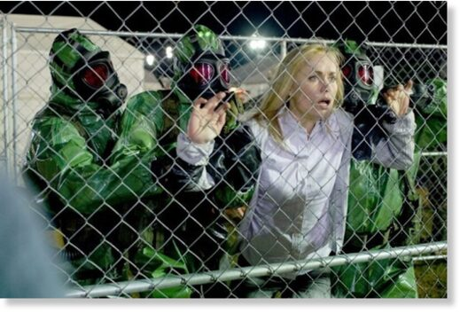 fenced in woman