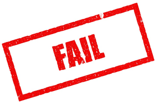 fail failure graphic