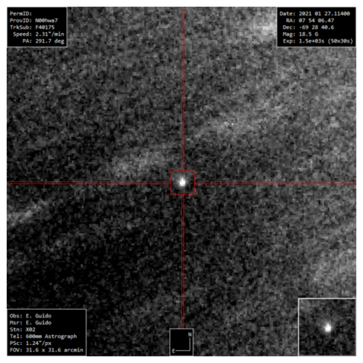 Comet C/2021 B3 NEOWISE