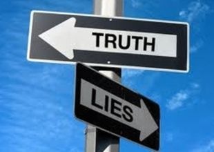 truth/lies street sign