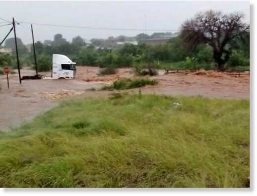 Floods in Musina, Limpopo, South Africa,