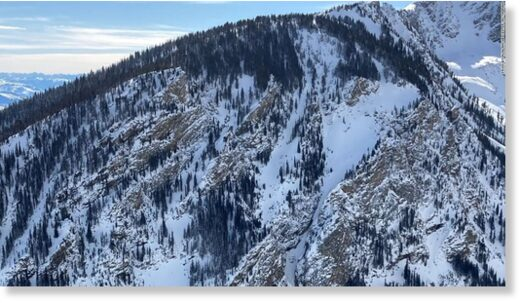 Bridger-Teton Avalanche Center shared this photo on Monday announcing there had been a fatality