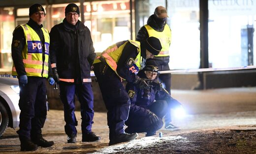 Police in Vetlanda, Sweden