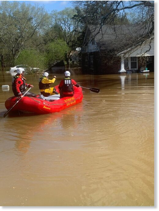 Flood rescues Rutherford County, Tennessee, March 2021.