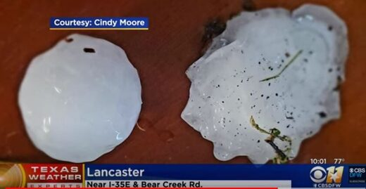 Large hail in Texas