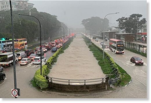 Flash Floods in Singapore, 17 April 2021.