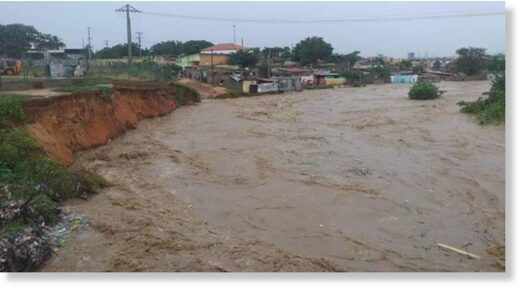 Floods in Luanda Angola, 19 April 2021.