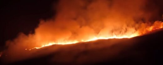 Northern Ireland wildfire
