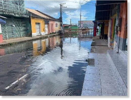 Floods in Oriximiná, Para, Brazil, April 2021