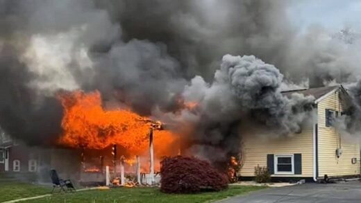 maryland house on fire