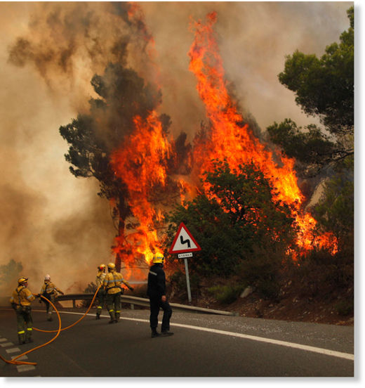 incendio forestal Costa del Sol1