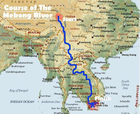 Rio Mekong Mapa Fisico.Rio Mekong Mapa Fisico Mapa